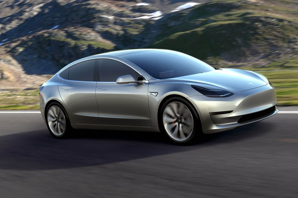 Tesla Model 3, gris