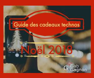 Guide des cadeaux technos Noel 2018