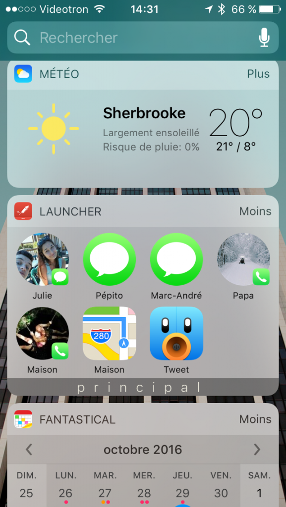 Widget iOS 10 Launcher