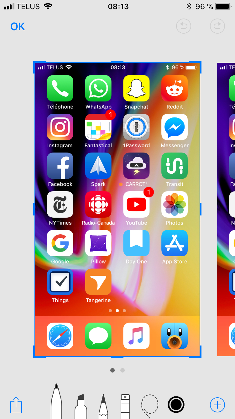 iOS 11 screenshot Apple