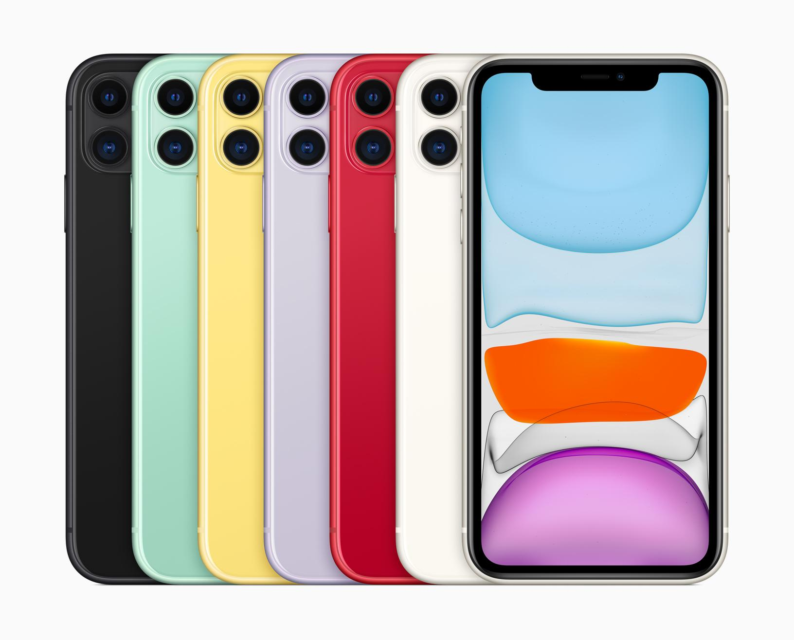 Les couleurs pastels de l'iPhone 11.