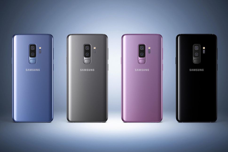 Galaxy S9 et S9+ photo promotionnelle