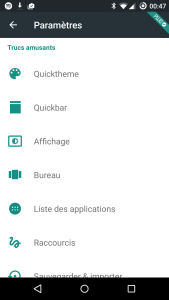 Action Launcher settings