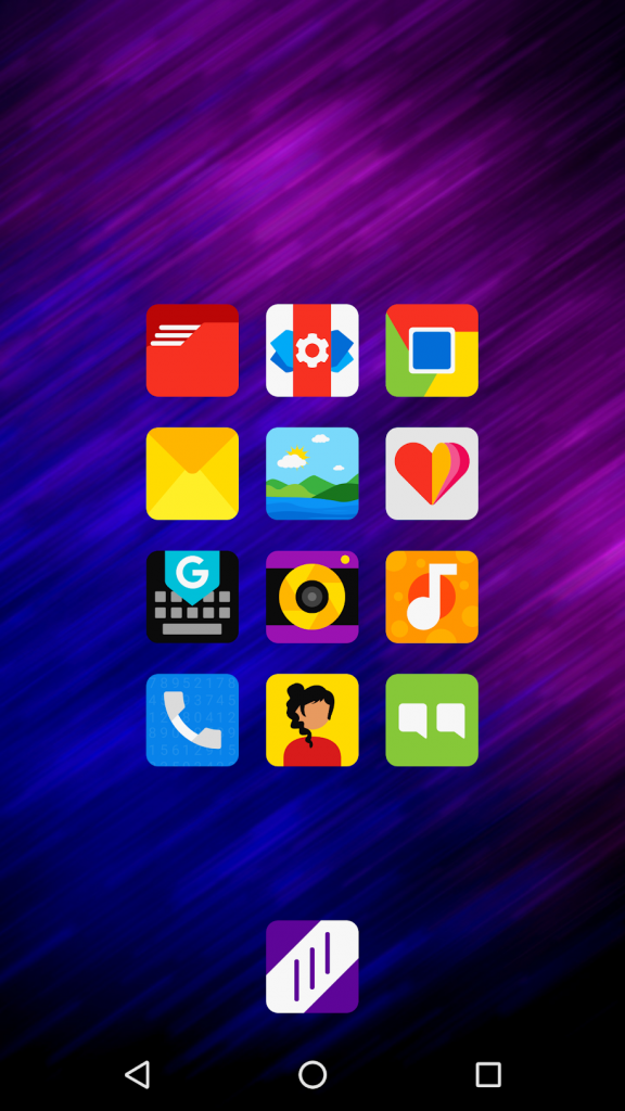 Nova Launcher homescreen